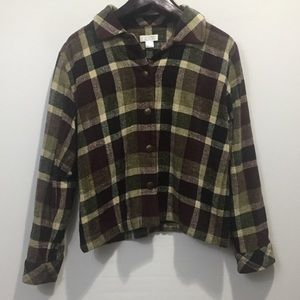 Christopher & Banks Plaid button Down Shirt. Med